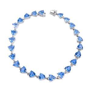 Jewelry - 14 Karat White Gold and Blue Topaz Ladies Bracelet